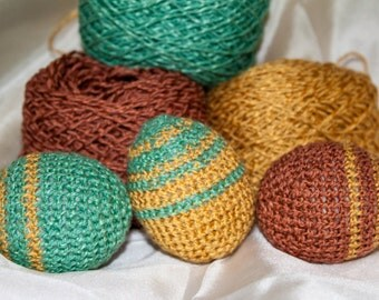 Striped Amigurumi Easter Egg Crochet Pattern