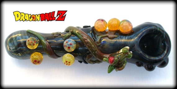 Dragon Ball Z Pipe - Obtanium and Black Glass Pipe- Custom Order RESERVED for Laramie