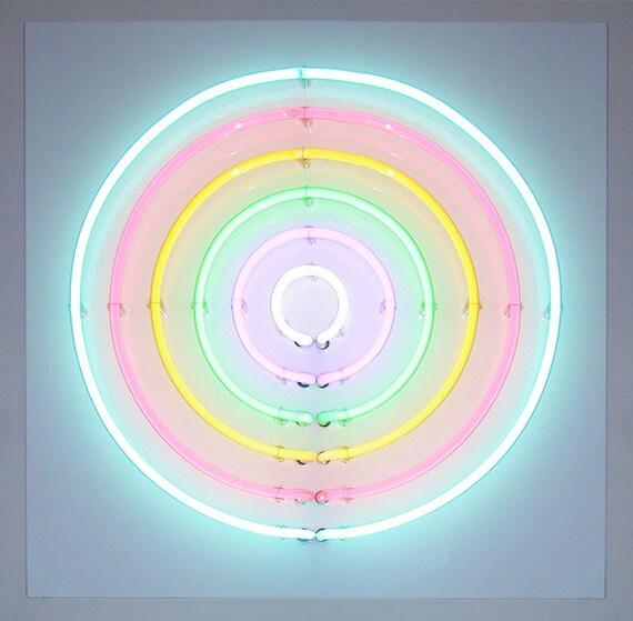 Neon Art Sign Soft Target Number 1