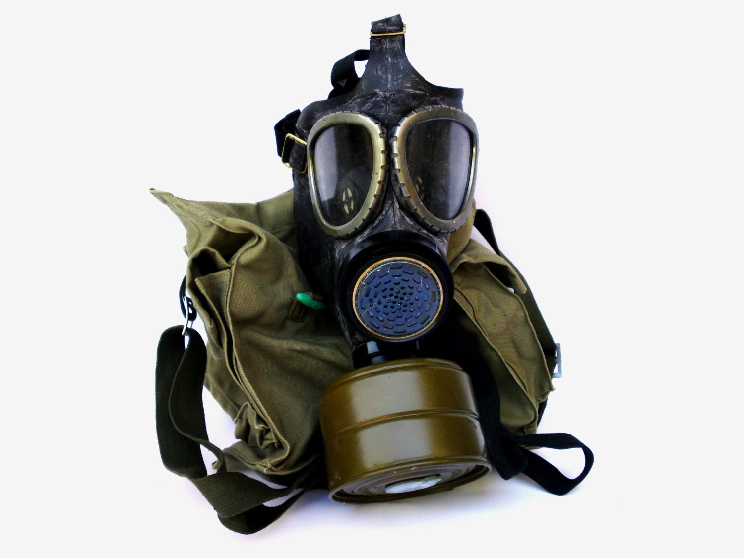 Army Gas Mask Drawing Vintage Military Gas Mask