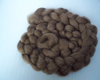 Icelandic Wool Spinning Fiber, Brown,Roving, Top, 100g / 3.5oz