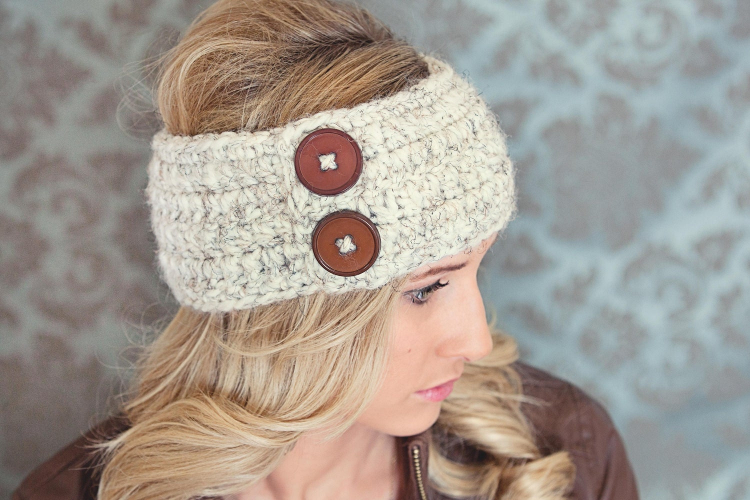 Unique Crochet Headband Ear Warmer Pattern With Button Closure Photo ...