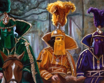 All The King's Men (New Orleans, Mardi Gras, Carnival) painting