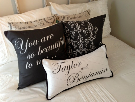 Personalised Wedding Gift Etsy : Personalized Wedding Pillows