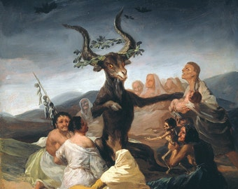 "Francisco de Goya : ""Witches' Sabbath"" (1798) - Giclee Fine Art Print"