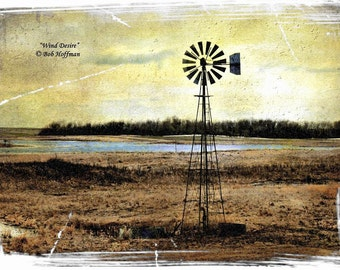 Wind Desire- 8x12 Rustic Barnwood Framed