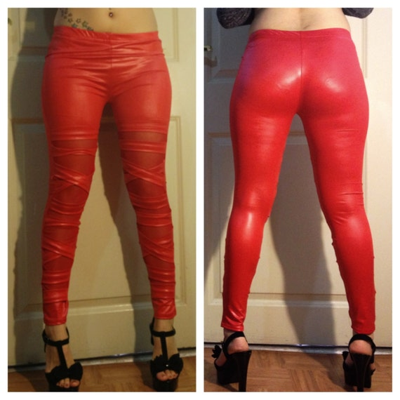 A basic pair of faux leather leggings gives you depth in changing up your look while a pair of our designer styles will escalate your look into a stylish and polished fashion look that can be approriate for any casual occassion.