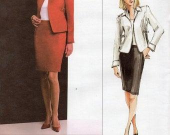 Vogue Designer Pattern 2808 ANNE KLEIN Jacket & Skirt Misses Sizes 18 20 22