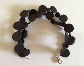 Black Dot Rubber Bracelet