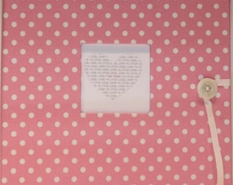 Standard Baby Book (pink with white dots)