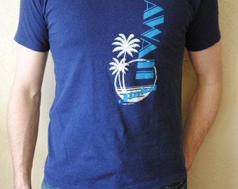 Vintage 1980s Hawaii Aloha T-Shirt size L