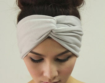 Simplicity Headband Twisted Simple Fashion Turban , Ash Color