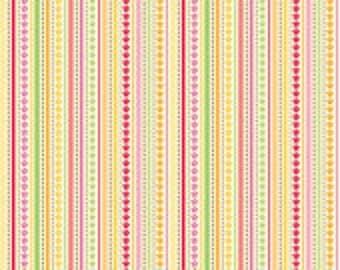 SALE  Ladybug Garden by Doodlebug Designs for Riley Blake in yellow stripe