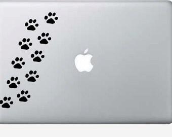 Puppy Paw vinyl macbook decals - set of 10