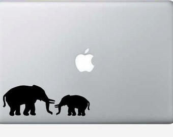 Two elephants macbook, computer, laptop, vinyl decal