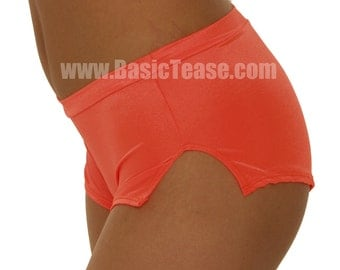 Stripper Curved Side Slit Shorts for Exotic Dancers or Pole Fitness Class