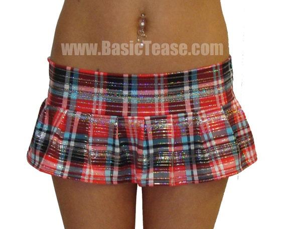 Mini School Girl Stripper Skirt for Exotic Dancers or Sorority Girl Costume. Super Short and Risque.