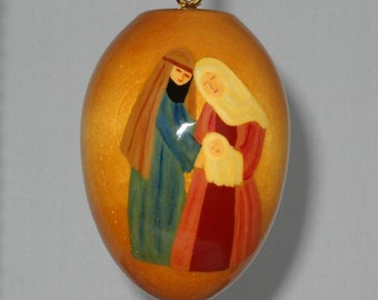 Religious Christmas Ornament, Joseph, Mary and Baby Jesus, EGO-20