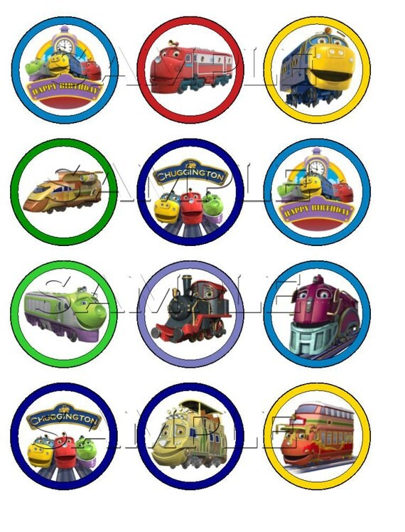 Items similar to Chuggington Edible Cupcake Toppers on Etsy