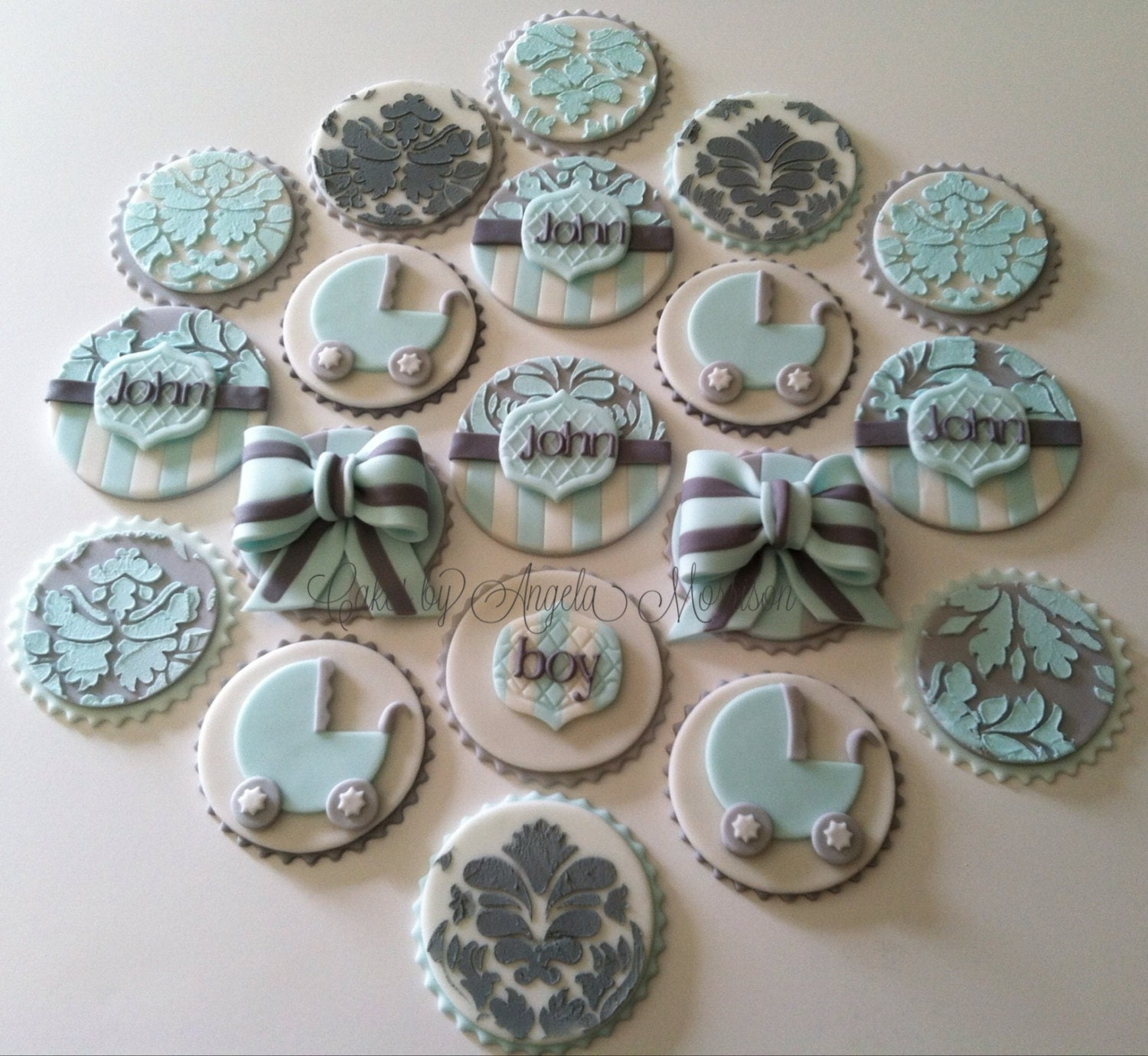 Baby shower cupcake toppers for Baby shower cupcake picks decoration