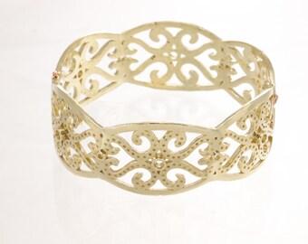 Silver cuff, sterling bangle bracelet