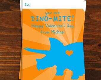 You are Dino-Mite Printable Valentine
