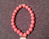 Rhodonite Pink Heart Bracelet