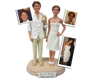 Casual Beach Groom with Your Choice of Bride Wedding Cake Topper