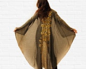 Long cardigan, olive color knitted cardigan