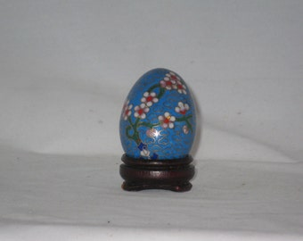 Cloisonne Egg with Stand, China