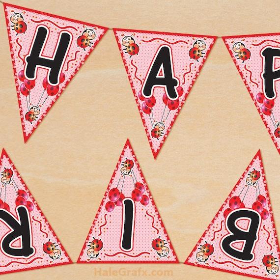 Items Similar To Ladybug Birthday Banner Printable, DIY