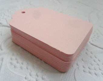 25 Light Pink Gift Tags-50 or 100-Hang Tags-Price Tags-Blank-Craft Punch