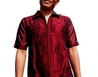 Shirt Jacket - Red -