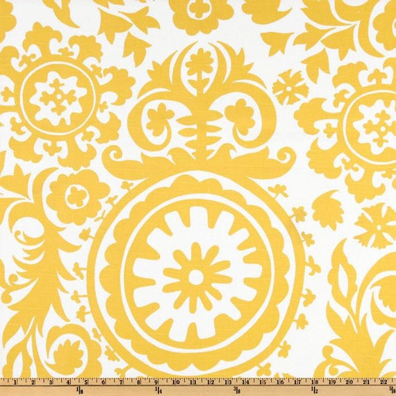 Yellow Suzani Fabric By The Yard Premier Prints Home Decor