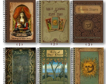 CUSTOM TAROT JOURNALS - Made To Order - Many Designs - Inside And Out