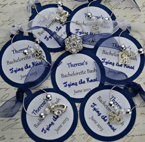 Items Similar To Wine Charm Favors Tying The Knot