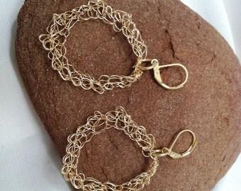 Crochet Round Wire Earrings