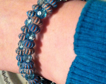Turquoise Memory Wire Bracelet