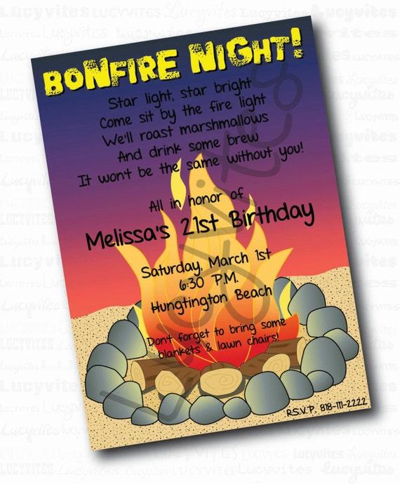 Bonfire Party Invitations as adorable invitation design
