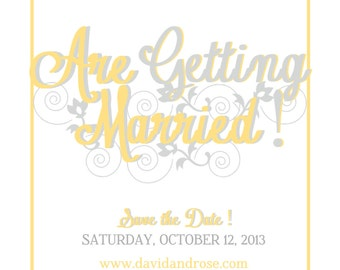Wedding Save the Date (DIGITAL FILE)