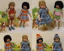 "Knitting Pattern Collection Kish Riley 8"" Doll Dresses & Play Suits"