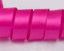 """Shocking Pink Ribbon, Double Faced Satin Ribbon, Widths Available: 1 1/2"""", 1"""", 6/8"""", 5/8"""", 3/8"""", 1/4"""", 1/8"""""""