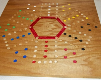 Aggravation Double Sided 4 and 6 Player Game Board