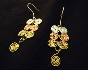 Egyptian coil earrings