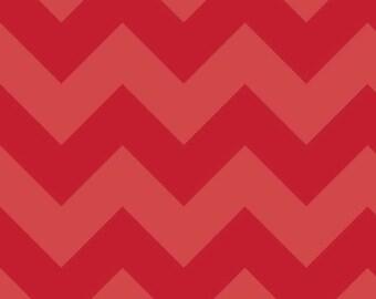 Riley Blake Large Two Tone Red Chevron Fabric- 1/2 yard