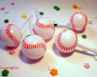 Baseball Softball Cupcake Picks Toppers - 12 ct