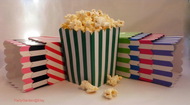 Blue Popcorn Favor Boxes : Mini turquoise blue popcorn boxes treats favors by