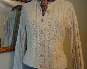 TEN DOLLAR SALE! Talbot's Cotton Cable Cardigan