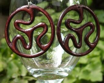 Infinity Wooden Earrings - Walnut Tree