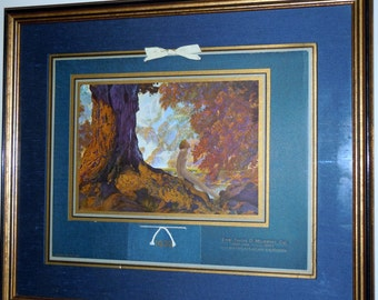 Rare Maxfield Parrish Original 1939 DREAMING Salesman Calendar